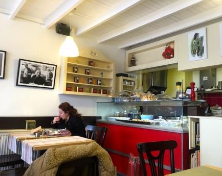 inside the cafe