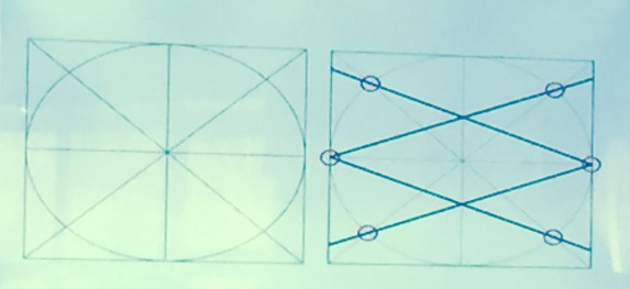 how Broug showed us how to make the designs with only a ruler