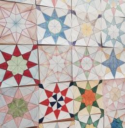 student fourfold pattern designs