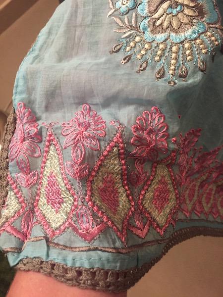 Beautiful fabric from India.